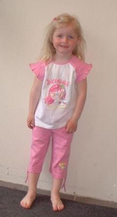 5d1dcfe2 Sweet rosa og hvitt sommersett til barn - Løpeskjørt.no